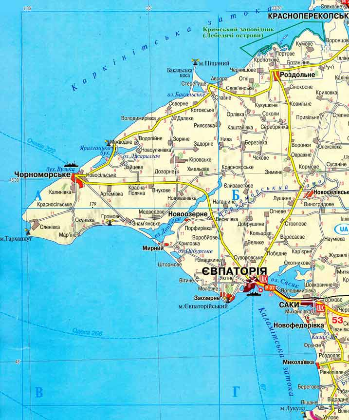 Подробная карта западного